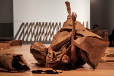 Antoni gave birth to me and ripped me to shreds. I was made of paper, a paper baby. I wanted her to eat me; instead, she left me in a pile in the corner of the gallery.